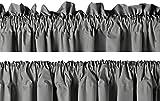 AmazonBasics wärmeisolierender Verdunkelungsvorhang, 2 Stück, 117x137cm (BxL), Dunkelgrau - 6