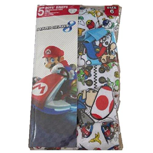 Super Mario Bros. 5-Pack Briefs Boys Underwear (6)