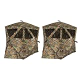 Plano AMEBL3016 Ameristep Outdoor 2 Person Care Taker Kick Out Duck Deer Hunting Blind with Carrying Case, Realtree Edge Camouflage (2 Pack)