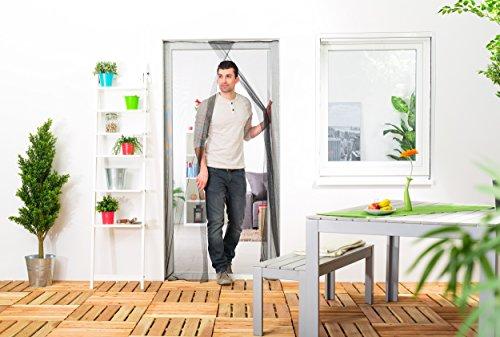 Culex 100450105-CU Fliegengitter für Türen 2x60x210cm anthrazit