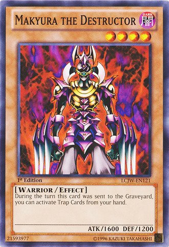 Yu-Gi-Oh! - Makyura the Destructor (LCJW-EN121) - Legendary Collection 4: Joey's World - 1st Edition - Common by Yu-Gi-Oh!