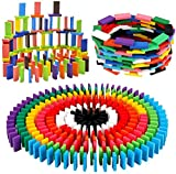 BigOtters 360PCS Super Domino Blocks, 12 Colors Wooden Domino Blocks Building Block Tile Game Racing Educational Toy for Kids Birthday Party Favor