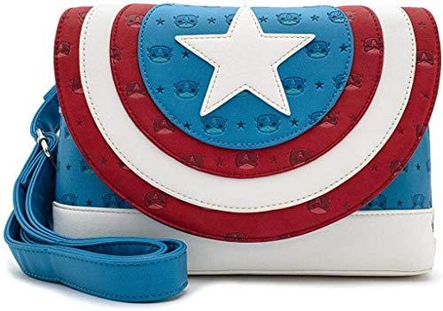 Capitán América Loungefly - Pop! by Loungefly - Captain America Logo Mujer Mochila Bandolera Multicolor