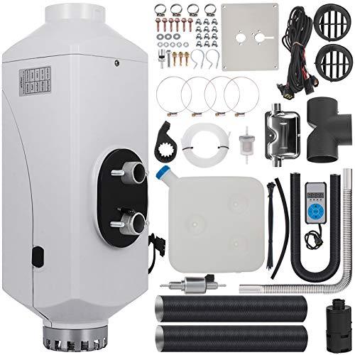 BuoQua Calentador de Aire Diesel 12V 5 KW Calefacción de Diesel Estacionario con Control de Temperatura Temporizador Calentador de Combustible Diesel con Interruptor Digital para Automóviles