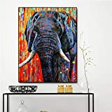 sanzangtang Leinwanddrucke Moderner Elefant für Wanddekoration Plakatleben Poster und...