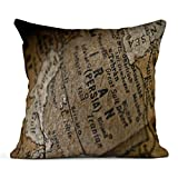 Kinhevao Throw Pillow Map Old Globe Detail Focus on Iran World Conflict Desert Iraq Middle Linen Cushion Home Decorative Pillow