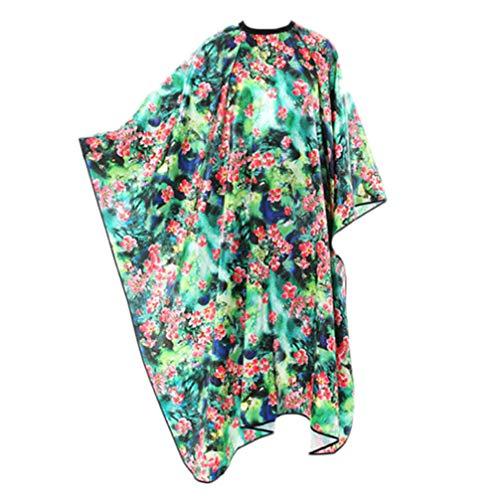 PIXNOR Capa de Salón Patrón Floral Kimono Bata Peluquería Capa Delantales Camisón Vestido Protector para SPA Salón de Peluquería Hogar