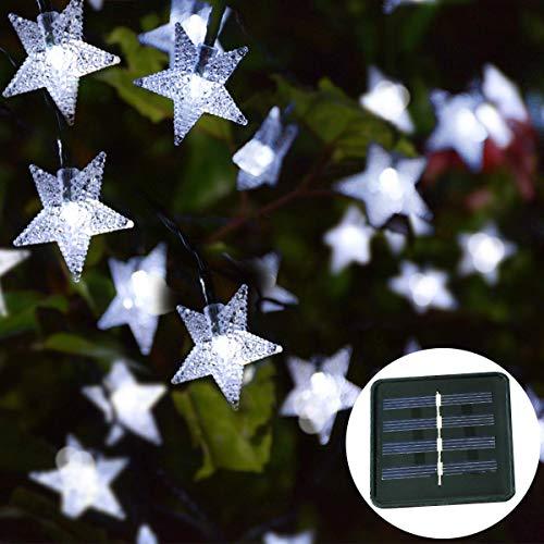 /étoile de rotin /Étoile Led No/ël Avec Lumi/ère LED /Étoile No/ël /Étoile Lumineuse 30 X /Étoile de No/ël de Couleur Naturelle avec Neige Blanche et Un Anneau pour Suspendre /Étoile Led