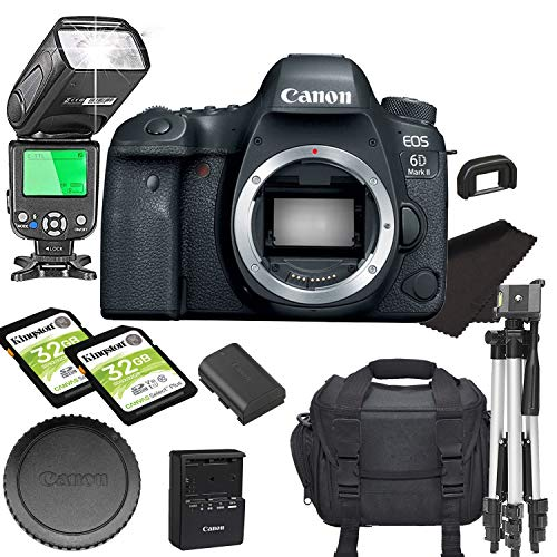 Canon EOS 6D Mark II DSLR Camera Body (NO Lens) Bundle   Built-in Wi-Fi 26.0 MP Full Frame CMOS Sensor  ...