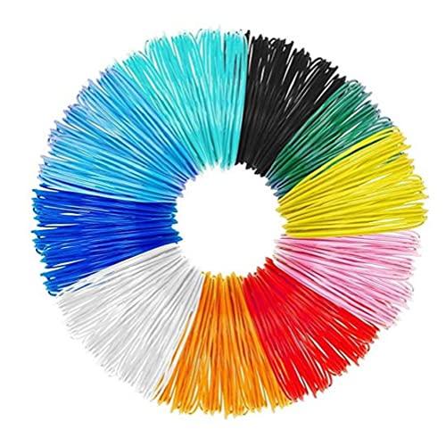 3D Pen Filament 10 Packs 1.75mm 3D Print PLA Filament Refills 16ft Colorful 3D Printer Filaments,3D printer