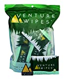 Venture Wipes: Large 12x12 Inch Individually Wrapped Body Wipes - Natural Ingredients &...