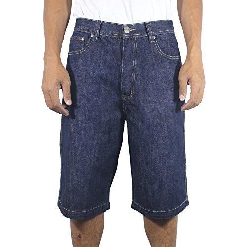 The Next Movement Mens Denim Big & Tall Jeans Short(38, Dark- blue)