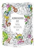 Ausmalkalender - Kalender 2021 - Alpha Edition-Verlag - Wandkalender mit tollen Ausmalbildern und Platz zum Eintragen - 30 cm x 41,8 cm