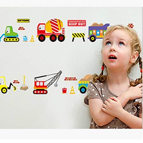 YJXWall Sticker Cartoon Speelgoed Auto Kinderkamer om Milieu Muurstickers te verwijderen