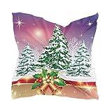 Ahomy Pañuelo cuadrado para mujer, diseño de campana de Navidad con árbol, 60 cm x 60 cm