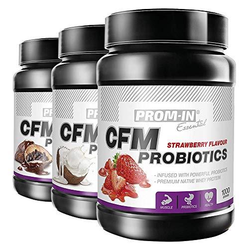 PROM-IN Essential CFM Probiotics | Premium natives Molkenprotein | Infundiert mit starken Probiotika | 1000g oder 2250g (Schokolade, 2250g)