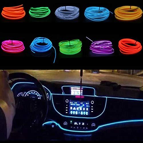 haodene USB Licht f/ür Auto Innenbeleuchtung Atmosph/äre Licht auf USB-Schnittsstelle adaptiert von Zigarettenanz/ünder Universal Heim Schreibtisch Laptop Plug and Play Eisblau