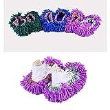 WL-TXie Pantofole per Mop Donna, Pantofole per Spolverare, Coperture per Scarpe di Pulizia in Microfibra Extra Large per Casa Cucina Ufficio Soggiorno Colori Multipli 6 Pezzi (3 Paia)