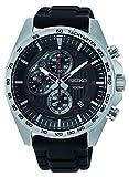 Seiko Herren Chronograph Quarz Uhr mit Silikon Armband SSB325P1