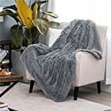 Bedsure Faux Fur King (108x90) Soft Blanket - Fluffy Blanket for Sofa, Couch and Bed - Super Soft Fuzzy Fleece Blanket for Outdoor, Indoor, Camping, Gifts (108x90 inches, Light Grey)