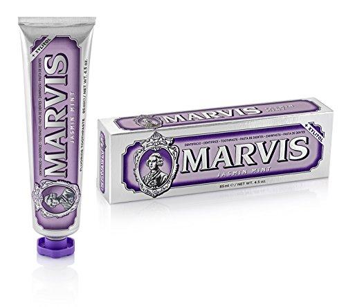 MARVIS® Jasmin Mint 85 ml I Zahncreme mit blumigen Noten der Jasminblüte I entfernt Plaque und hartnäckige Beläge I mit Fluorid