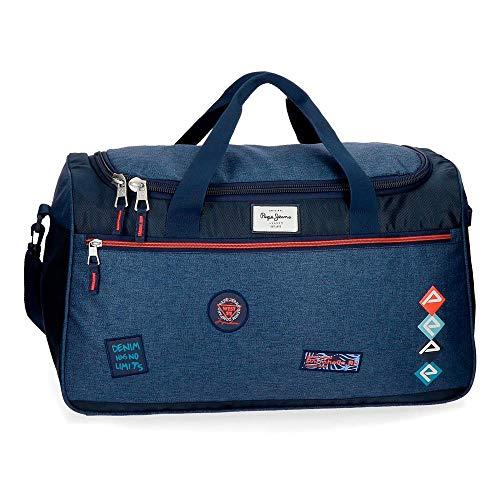 Pepe Jeans Paul Bolsa de Viaje Azul 57x29x29 cms Poliéster...