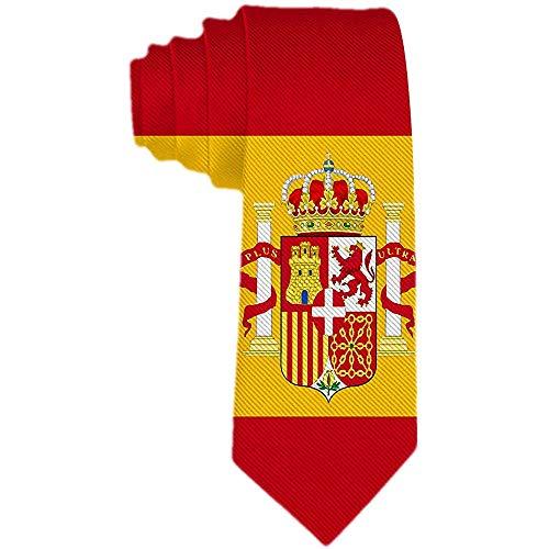 Corbata De Traje De Fiesta Formal Con Corbata De Seda Con La Bandera De España Clásica Para Hombre