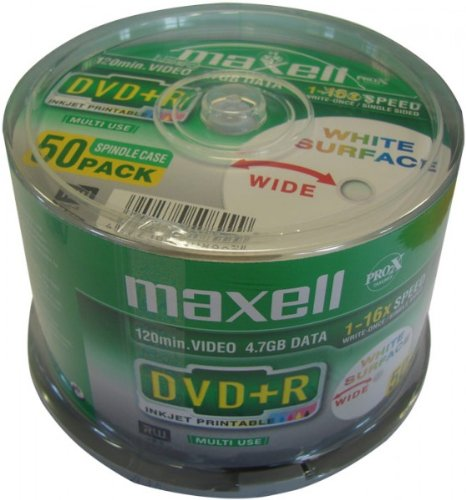 Maxell DVD+R 4.7GB 16X Printable 50ER SPINDEL