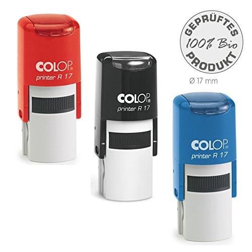 Colop Stempel Printer Rund VERSCHIEDENE GRÖßEN (R 17) mit individueller Textplatte/Logo