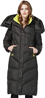 Chaqueta de Invierno para Mujer Chaquetas con Capucha de Moda cálida Moda Larga Ropa de Invierno Chaqueta y Abrigo