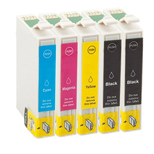 Generic 5 cartuchos de tinta compatibles reemplazar Epson T0715/T0895. 2 x T0711/T0891 Negro, 1 x T0712/T0892 Cian, 1 x T0713/T0893 Magenta, 1 x T0714/T0894 amarillo para impresora Epson Stylus D78/D92/D120/DX4050/DX4400/DX5050/DX6000/DX6050/DX7000F/DX7450/DX8450/DX9400f/S20/S21/SX110/SX105/SX115/SX205/SX210/SX215/SX218/SX405/SX410/SX415/SX510w/SX515W/SX600FW/BX610FW Office B40W/BX310FN