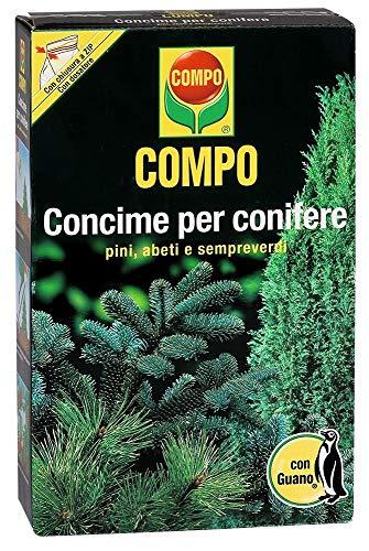 COMPO Concime per Conifere con Guano, Per pini, abeti e sempreverdi, 1 kg