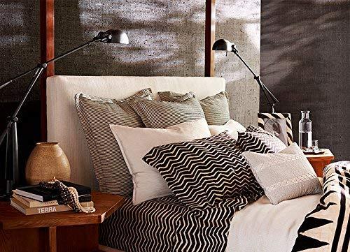Ralph Lauren Palms Priya Cream and Black Queen Flat Sheet