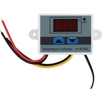 Digitaler Thermostatregler Augproveshak Temperaturregler Fischmaschine Thermostat-Sensorschalter Mit LCD-Display 220 V 24 V F/ür Inkubator K/ühl- // Heizsteuerung 12 V