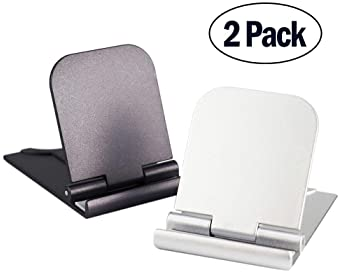 Cell Phone Stand, 2Pack Cellphone Holder for Desk Lightweight Portable Foldable Tablet Stands Desktop Dock Cradle for...