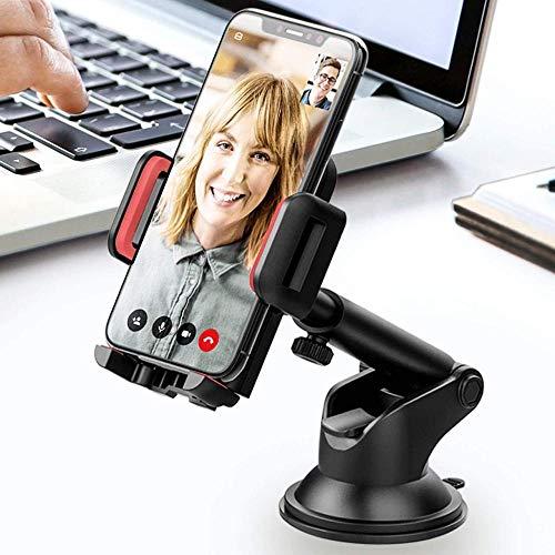 ANGEELEE Handyhalter fürs Auto Handyhalterung Auto KFZ Smartphone Halterung Armaturenbrett/Windschutzscheibe Universal-Black