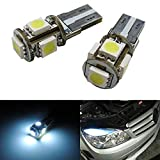 iJDMTOY 5-SMD Error Free 2825 W5W LED Replacement Bulbs Compatible With European Cars For Parking/Position Lights, Xenon White