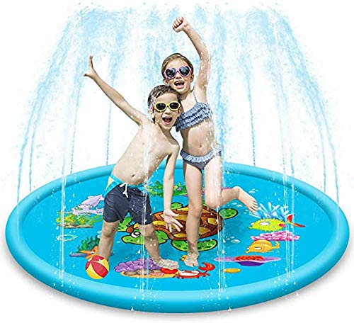 Splash Pad Summer Duurzaam Spray Speelgoed Opblaasbaar Buiten Pierebad Water Early Learning Games Toys for Kids Outdoor Garden Family Activiteiten