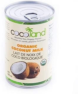Coco Land Organic Unsweetened Coconut Milk, 13.5 Fluid Ounce