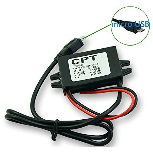 HOMREE DC-DC Converter Step Down Module 12V to 5V Micro USB Output Buck Power Adapter