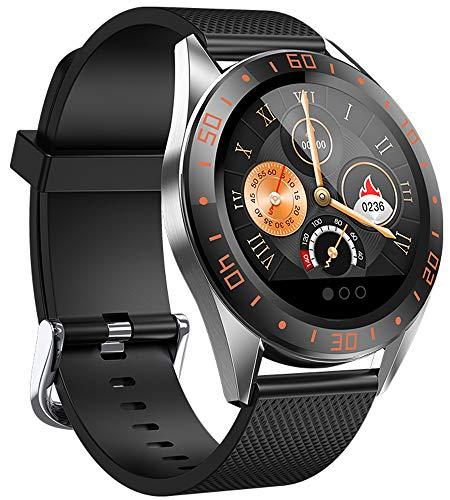 jpantech Smartwatch, Fitness Tracker Smart Horloges IP68 Waterdichte Fitness Horloge met Hartslagmeter Stappenteller Slaapmonitor Stopwatch voor Mannen Vrouwen voor iPhone Android Telefoon (oranje)