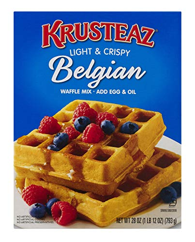 Krusteaz Light & Crispy Belgian Waffle Mix - No Artificial Flavors, Colors, or...