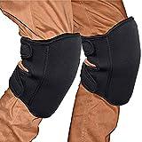 AQAA 膝当て(ひざあて) 掃除 膝パッド ニーパッド 膝プロテクター 作業用 2個入り ブラック 改良版