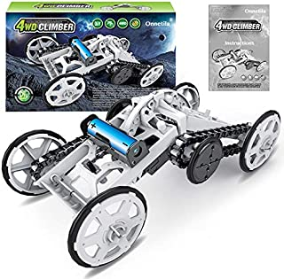 Onnetila Electric 4WD Climbing Vehicle DIY Toy Set STEM Toys for Boys 7 8 9 10 12 Years Old Science Kits for Kids Build Your Own Robot Kit Circuit Building Projects for Kids and Teens