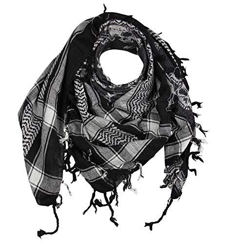 Superfreak® Pañuelo pali con estampado de calaveras 4°chal PLO°100x100 cm°Pañuelo palestino Arafat°100% algodón – ¡Todos los colores!
