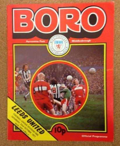 Middlesbrough Leeds United 22/10/77 AYRESOME Park Boro football programme (GR2)