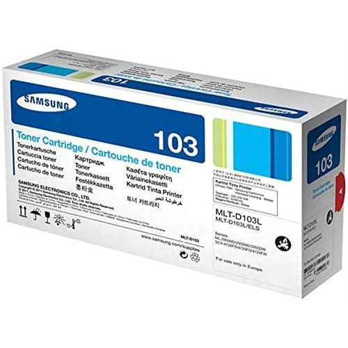 Samsung MLT-D103L SU716A Cartuccia Toner Originale da 2500 Pagine, Compatibile con Stampanti Laserjet Monocromatiche Serie ML-2950, SCX-4700 e 4720, Nero