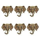 Joyindecor Elephant Napkin Rings - Set of 6 Vintage Diamond Napkin Ring Holders for Wedding Party Home Kitchen Dining Table