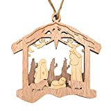 Creawoo Nativity Christmas Tree Ornaments, Navity Scene Decorations, Wooden Hanging Ornaments, Religious Inspirational Gift for Christian, Friends and Family, Celebrate The Birth of Jesus 2020