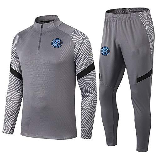 PARTAS Langarm Inter Mailand Tracksuits Football Wear Verein Uniform Trainingsanzug Inter Mailand Wettbewerb Anzug Herren 2 Stück Sets (Size : M)